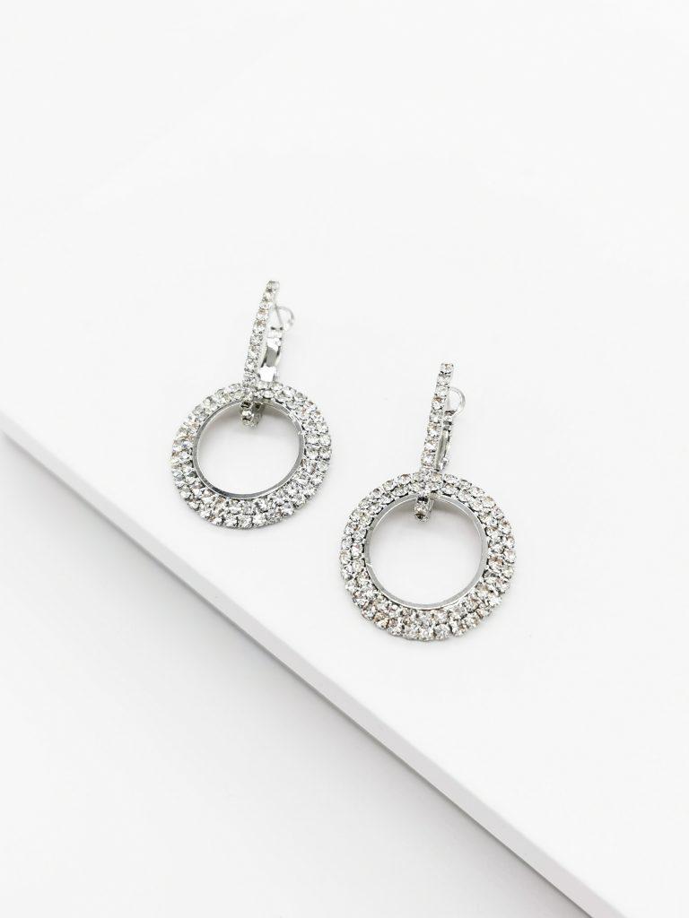 Callel Silver Cubic Zirconia Dangle Earrings
