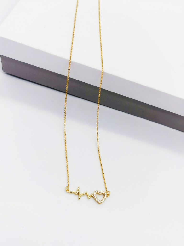 Callel 14K Gold Heartbeat Necklace