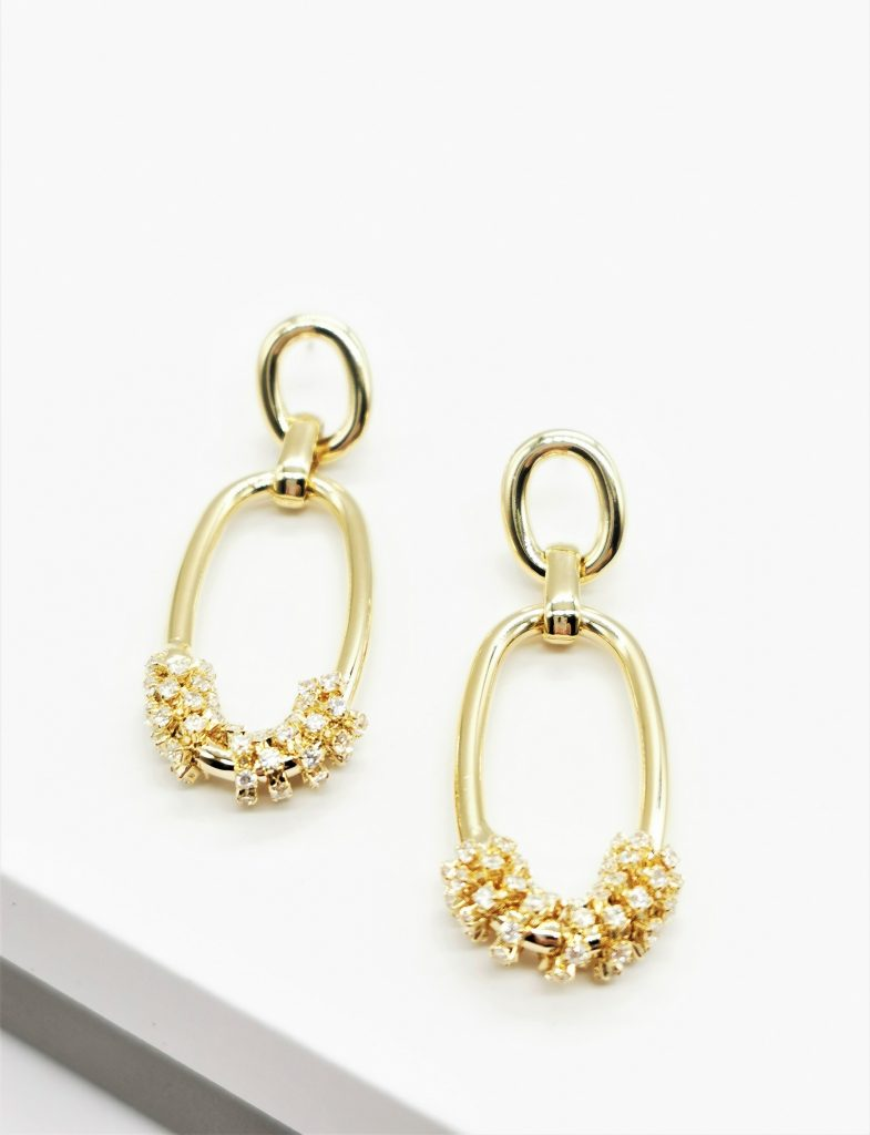 Callel 14K Gold Double Chain Drop Earrings