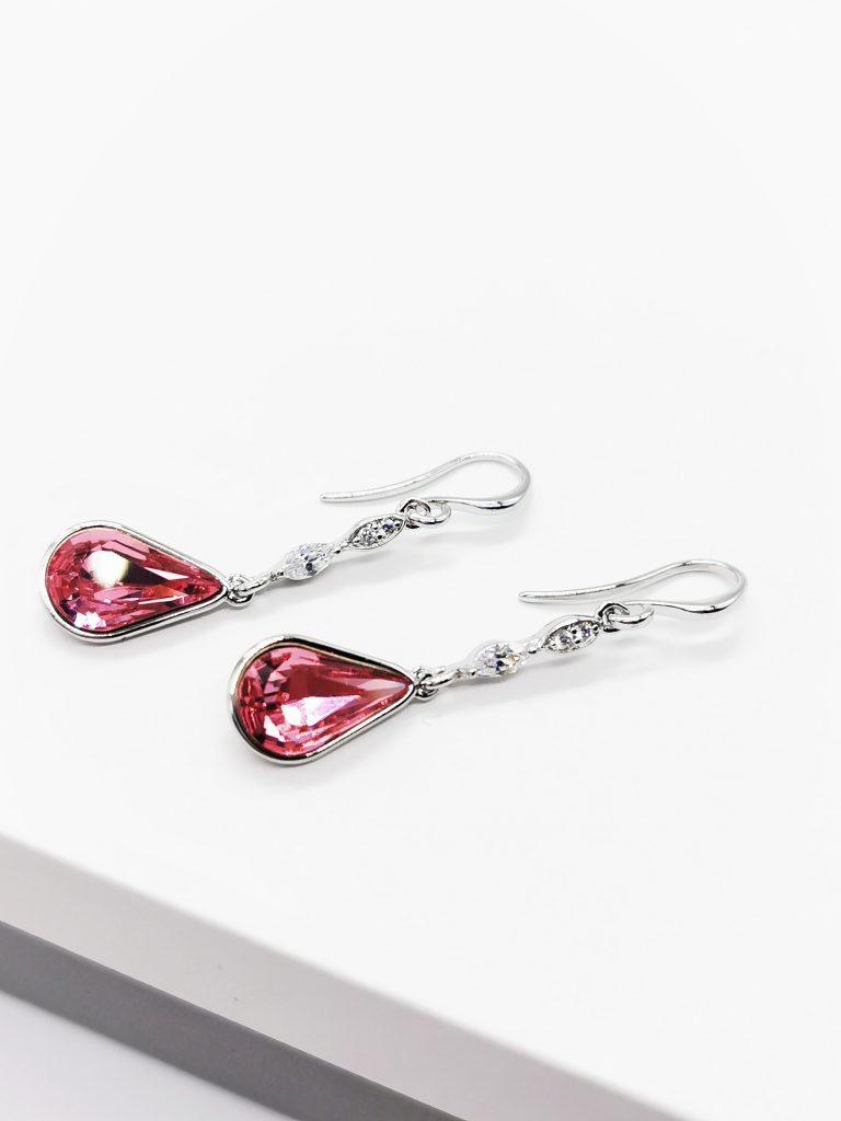 Callel Teadrop Crystal from Swarovski Dangle Earrings