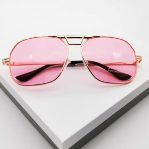 Gold Frame Pink Sunglasses