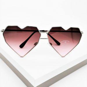 Heart Shaped Purple Tinted Sunglasses