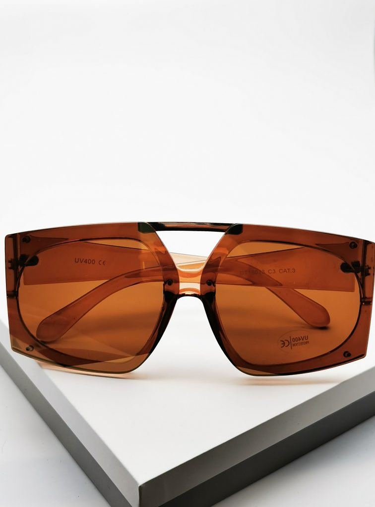 Callel Brown Oversize Sunglasses