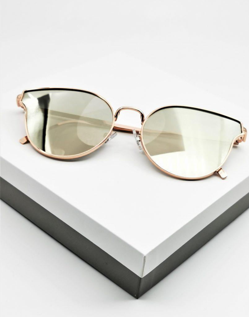 Callel Rose Gold Frame Mirrored Sunglasses