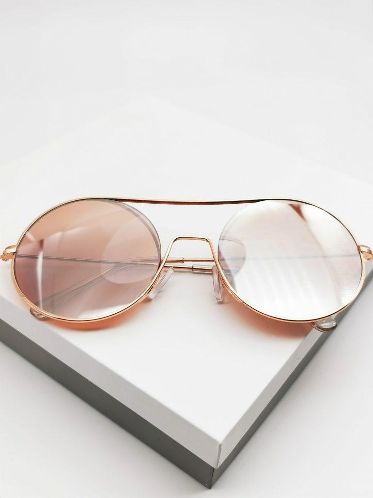 Callel Flat Top Mirrored Sunglasses
