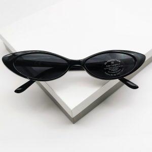Slim Narrow Cat Eye Sunglasses