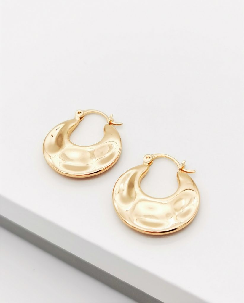 18K Gold Creole Earrings