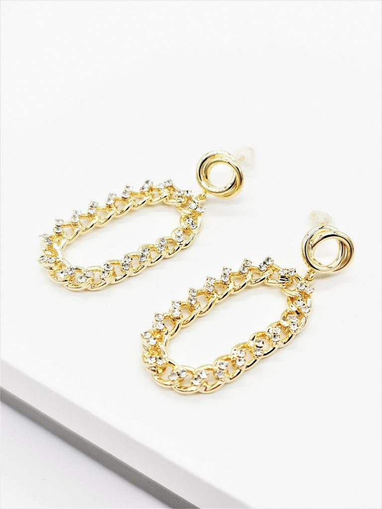 Callel 14K Gold Chain Drop Earrings