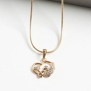 Angel Heart Pendant Necklace