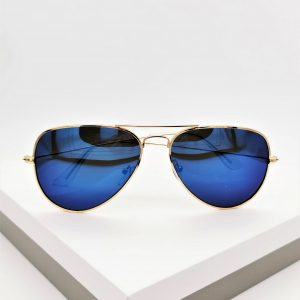 Top Bar Blue Aviator Sunglasses