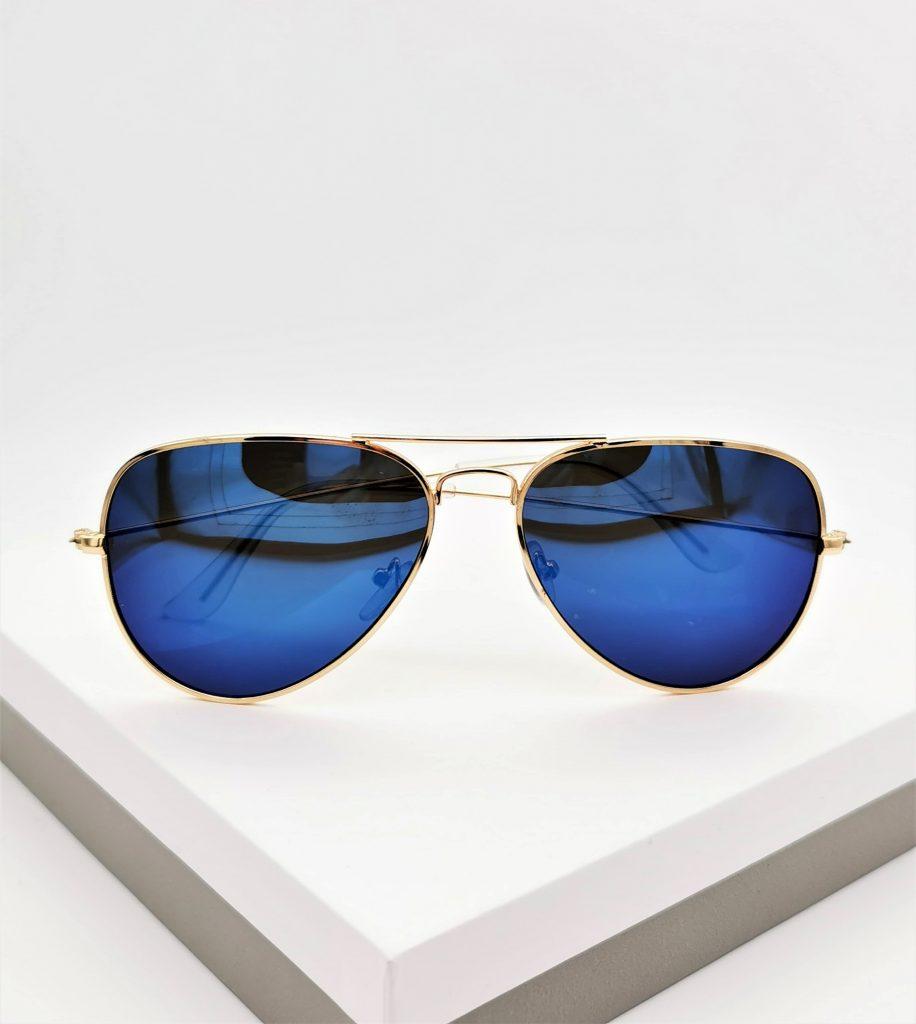 Callel Blue Aviator Sunglasses