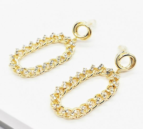 Callel 14K Gold Plated Chain Drop Earrings