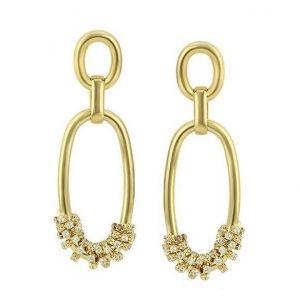 Double Chain Drop Earrings