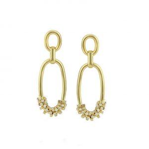14K Gold Double Chain Drop Earrings