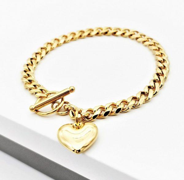 Callel 24K Gold Curb Chain Bracelet