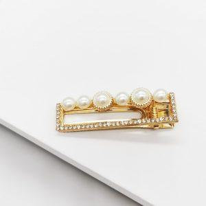 Gold & Pearl Hair Clip