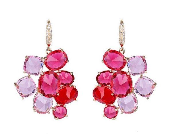 Callel 18K Pink Cubic Zirconia Hook Earrings