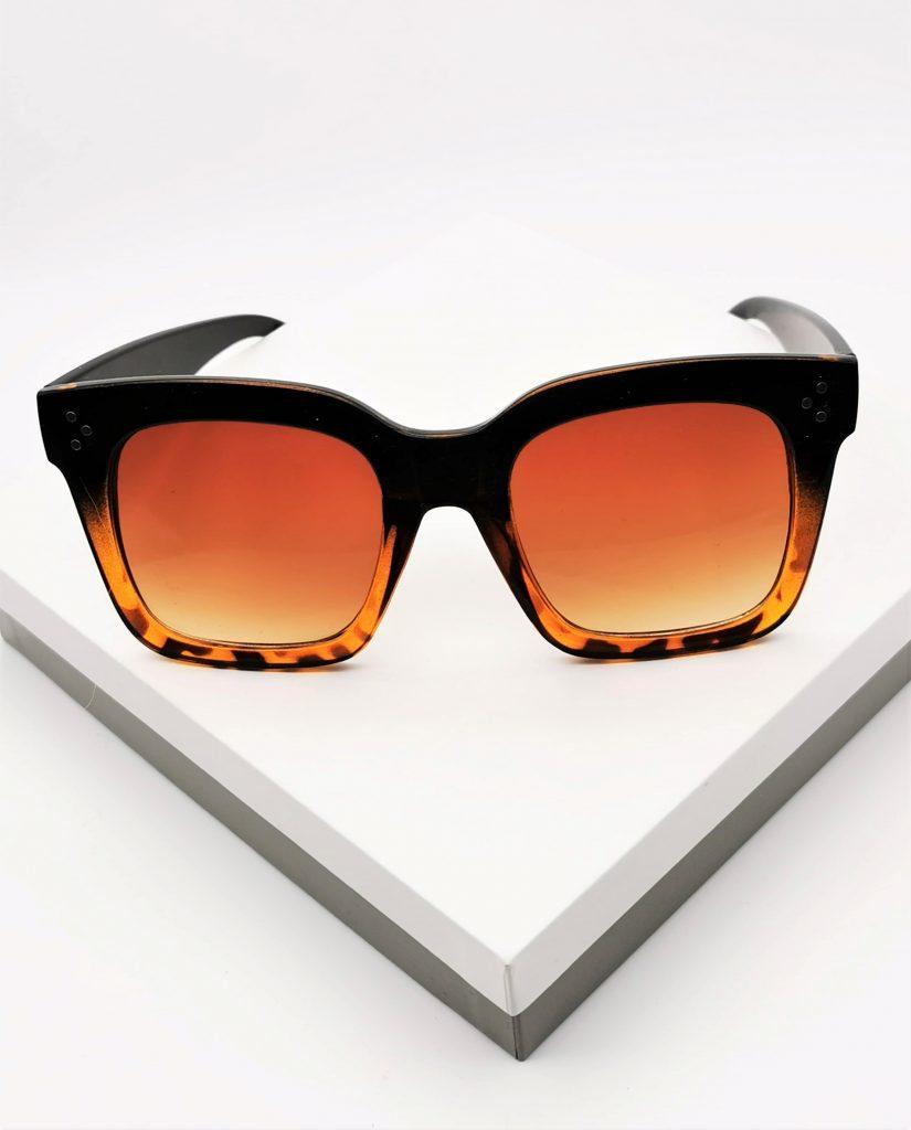 Callel Leopard Print Oversized Sunglasses