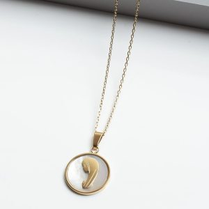 Oval Mary Pendant Necklace