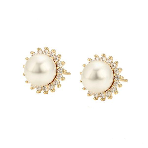 Callel 14K Gold Pearl Stud Earrings
