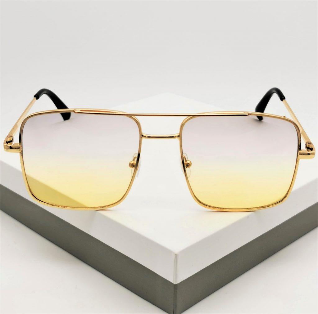 Callel Womens Yellow Sunglasses