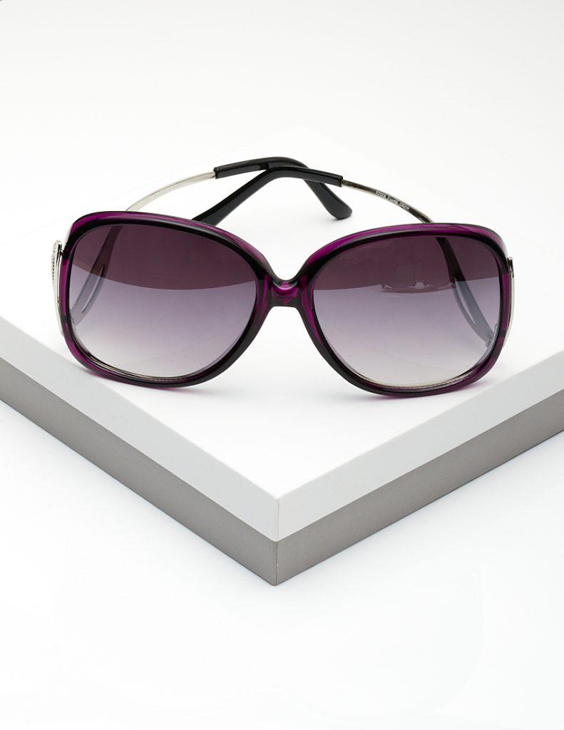 Callel Angel Wing Arm Sunglasses In Purple