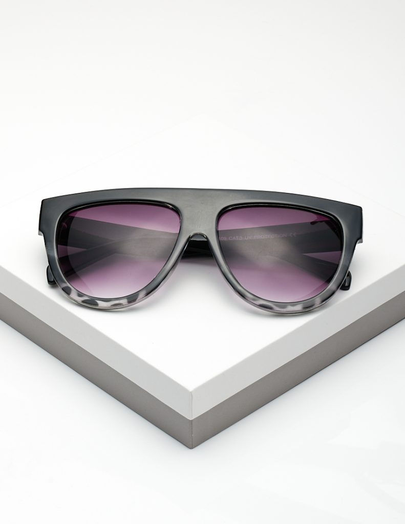 Callel White Leopard Print Flat Top Sunglasses