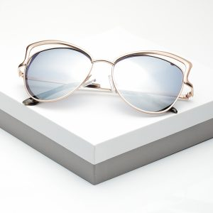 Mirrored Gold Metal Detail Sunglasses