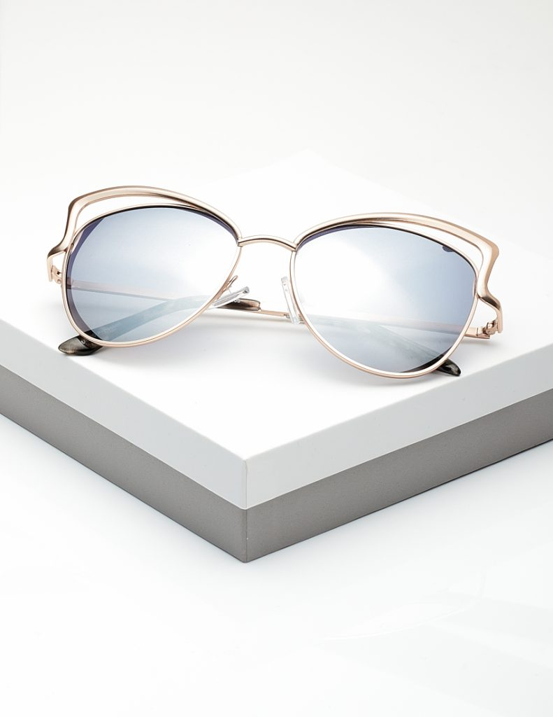Callel Mirrored Gold Detail Sunglasses