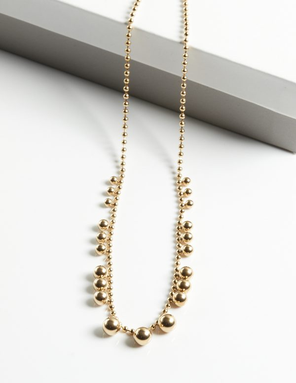 Callel Gold Beads Necklace