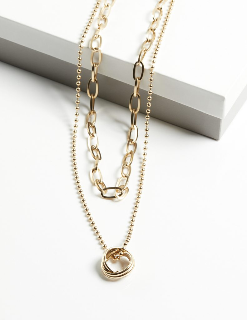 Callel Double Layer Chain Necklace