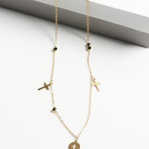 14K Gold Cross Celebrity Necklace