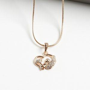 18K Angel Heart Pendant Necklace
