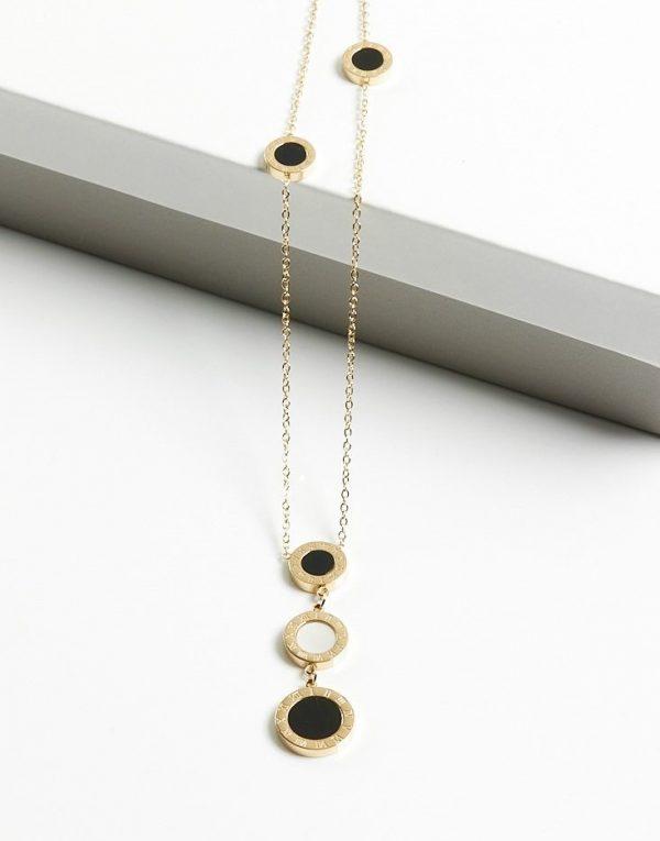 Callel Roman Numerals Celebrity Necklace