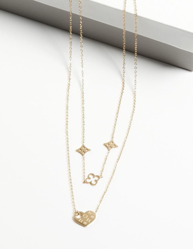 Callel Double Layer Blueberry Chain Necklace