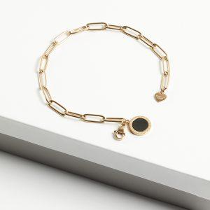 14K Gold Stainless Steel Blueberry Chain Bracelet