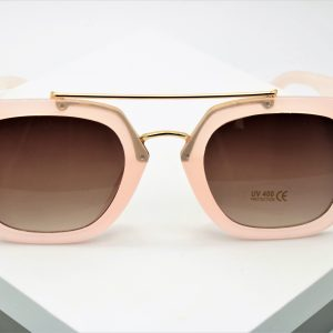 Flat Top Frame Pink Sunglasses