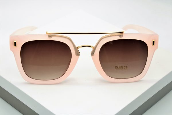 Callel Flat Top Frame Pink Sunglasses
