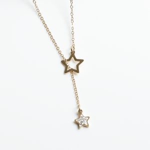 14K Gold Star Celebrity Chain Necklace