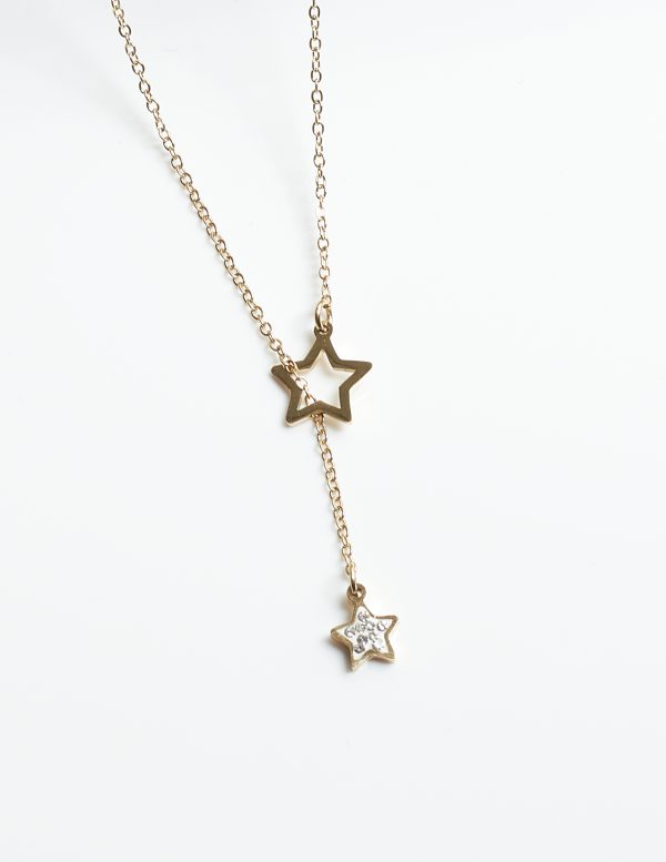 Callel 14K Gold Star Celebrity Chain Necklace