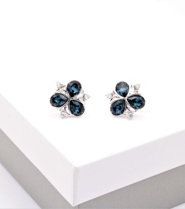 Callel Dark Blue Cubic Zirconia Stud Earrings