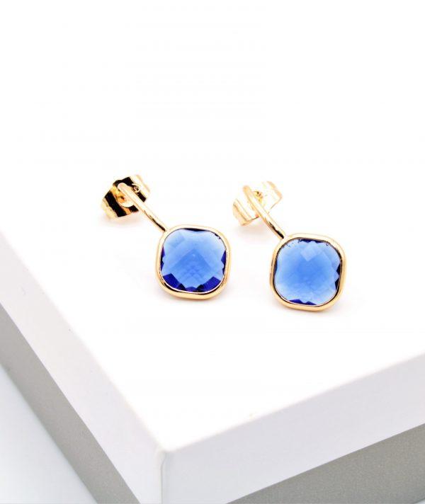 Callel 18K Gold Royal Blue Stone Drop Earrings