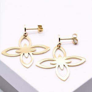 Gold Lilou Style Drop Earrings