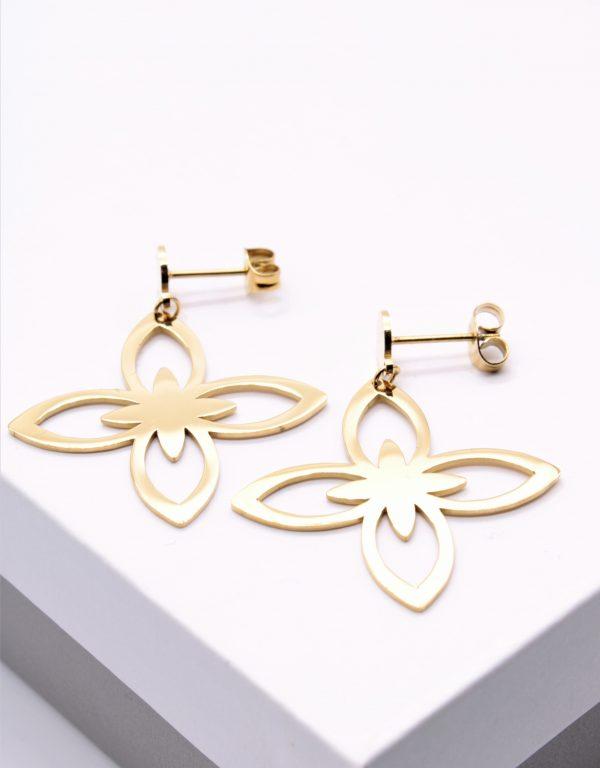 Callel Gold Lilou Style Drop Earrings