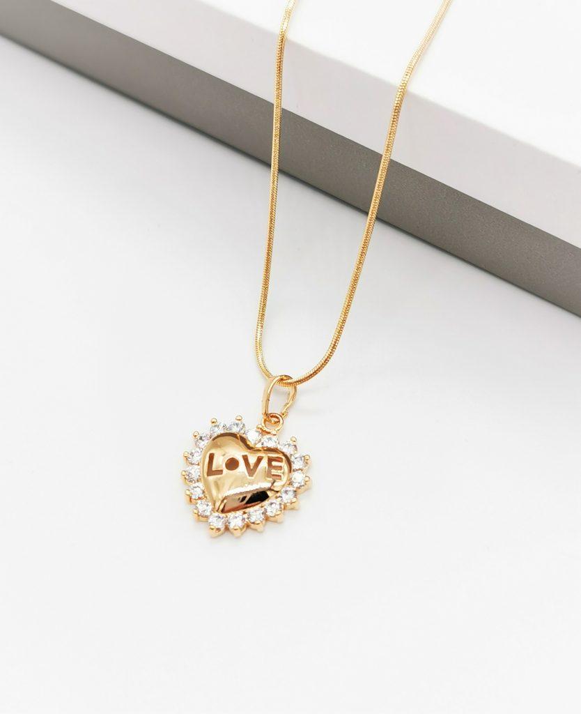 Callel Gold Love Heart Pendant Necklace
