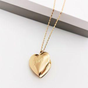 18K Gold Heart Locket