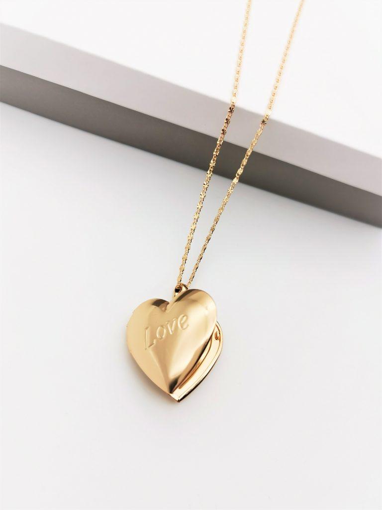 Callel 18K Gold Heart Locket