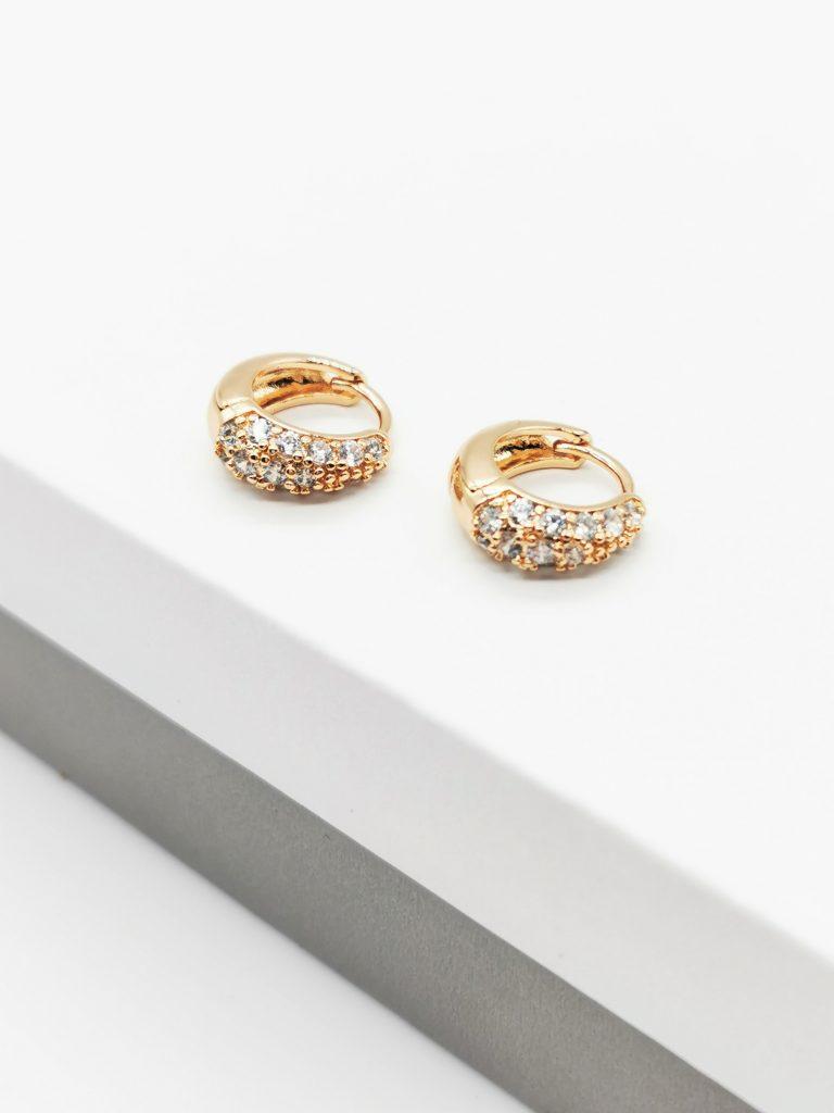 18K Gold Huggie Earrings