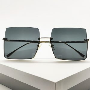 Black Square Oversized Sunglasses