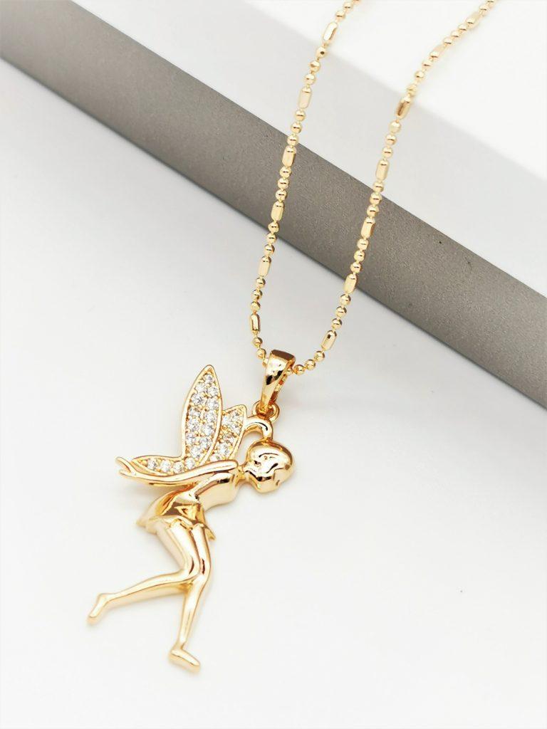 Callel 18K Gold Fairy Pendant Necklace